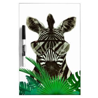 Hipster Zebra Style Animal Dry Erase Whiteboard