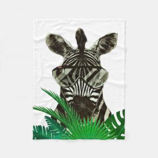 Hipster Zebra Style Animal Fleece Blanket