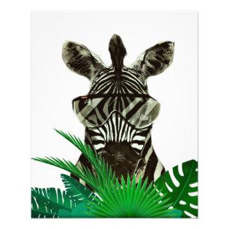 Hipster Zebra Style Animal Full Color Flyer