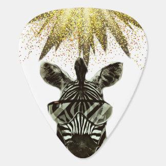 Hipster Zebra Style Animal Guitar Pick