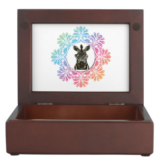 Hipster Zebra Style Animal Keepsake Box