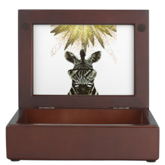 Hipster Zebra Style Animal Keepsake Boxes