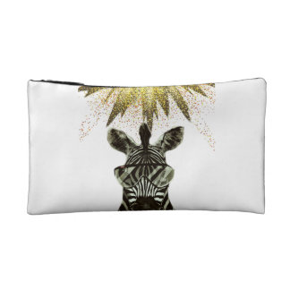 Hipster Zebra Style Animal Makeup Bags