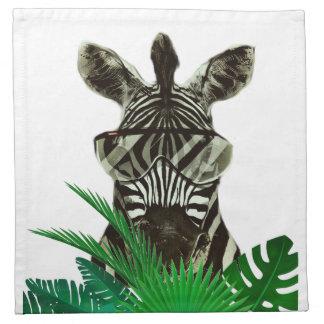 Hipster Zebra Style Animal Napkin