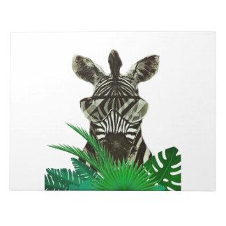 Hipster Zebra Style Animal Notepad