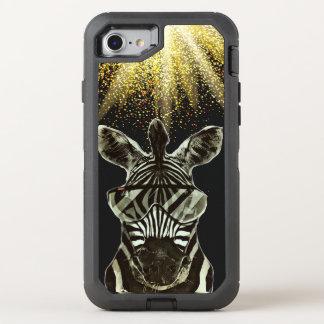 Hipster Zebra Style Animal OtterBox Defender iPhone 8/7 Case