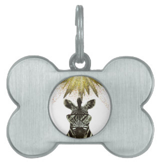 Hipster Zebra Style Animal Pet ID Tag