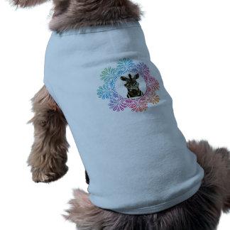 Hipster Zebra Style Animal Pet T-shirt