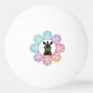 Hipster Zebra Style Animal Ping Pong Ball