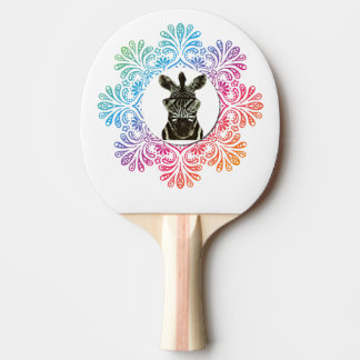 Hipster Zebra Style Animal Ping Pong Paddle