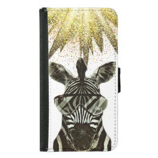 Hipster Zebra Style Animal Samsung Galaxy S5 Wallet Case