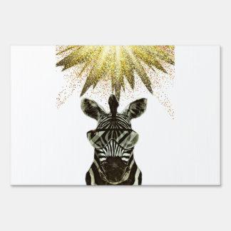 Hipster Zebra Style Animal Sign