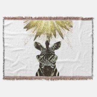 Hipster Zebra Style Animal Throw Blanket