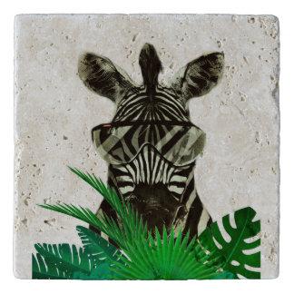 Hipster Zebra Style Animal Trivet