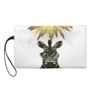 Hipster Zebra Style Animal Wristlet
