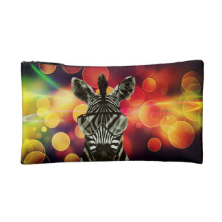 Hipster Zebra Style Cosmetics Bags