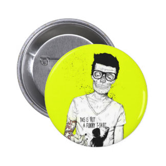Hipsters not dead 2 inch round button