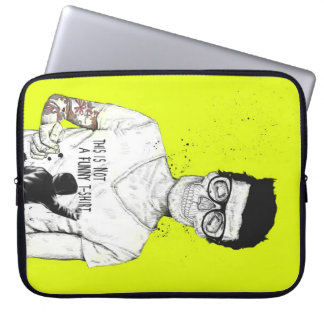 Hipsters not dead laptop sleeve