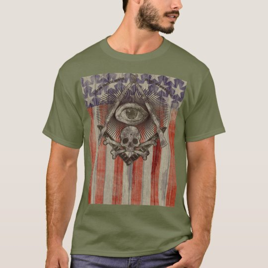 Hiram Abiff Freemason with American colours Shirt