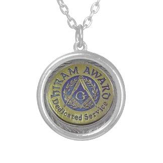 hiram_award.gif silver plated necklace