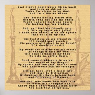 Hirams Poem. Poster