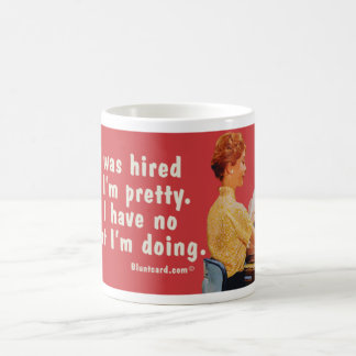 hired pretty classic white coffee mug
