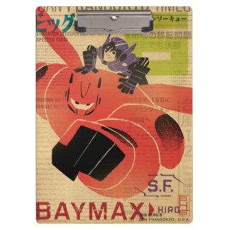 Hiro And Baymax Propaganda Clipboards