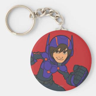 Hiro Hamada Purple Basic Round Button Keychain