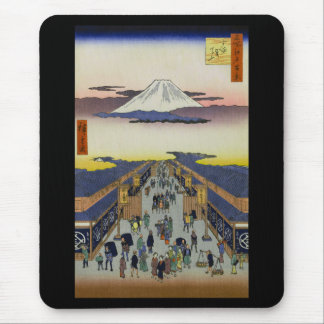 Hiroshige and the Edo place of interest hundred Mouse Pad