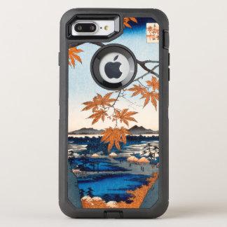 Hiroshige Maple Trees at Mama, Tekona Shrine OtterBox Defender iPhone 8 Plus/7 Plus Case
