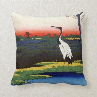 Hiroshige Minowa, Kanasugi, Mikawashima Throw Pillow