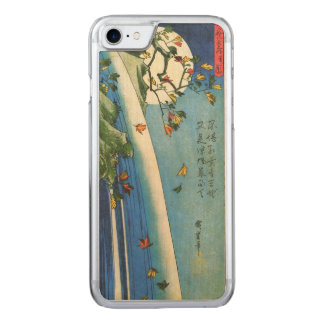 Hiroshige Moon Over A Waterfall Japanese Fine Art Carved iPhone 7 Case