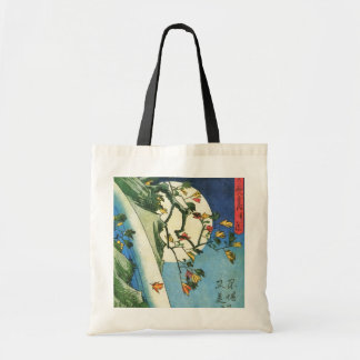 Hiroshige Moon Over A Waterfall Japanese Fine Art Tote Bag