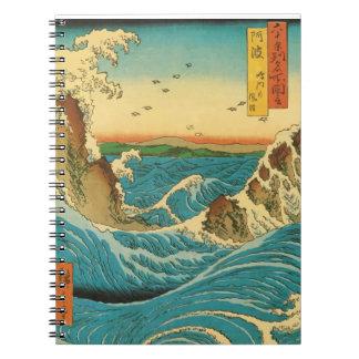 Hiroshige Navaro Rapids Spiral Note Books