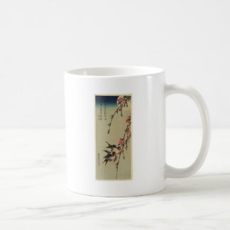 Hiroshige Swallows and Peach Blossoms Mugs