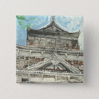 Hiroshima Castle Japan Button