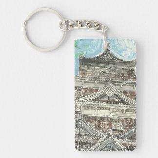 Hiroshima Castle Japan Keychain