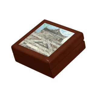 Hiroshima Castle Japan Wooden Oak Keepsake Box