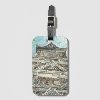 Hiroshima Castle Luggage Tag with Card Holder