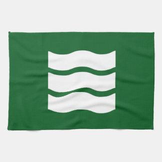 Hiroshima city flag Hiroshima prefecture japan sym Kitchen Towel