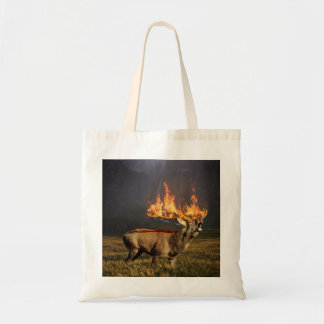 Hirsch with Horns on Fire Fantasy Art