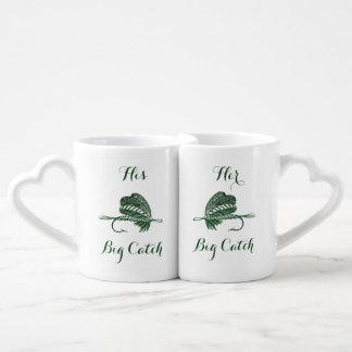 His and Her Big Catch fishing Mugs