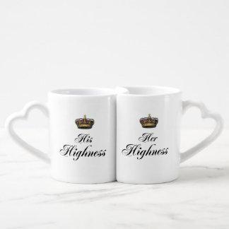 His and Her Highness mug set Lovers Mug Set