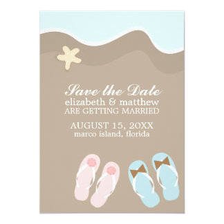 His and Hers Flip Flop Sandals Wedding Card