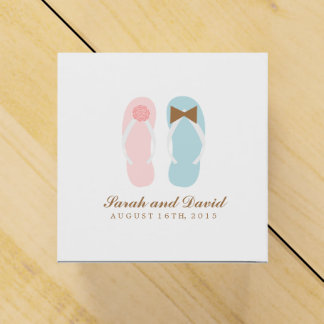 His and Hers Flip Flops Beach Wedding Party Favor Box