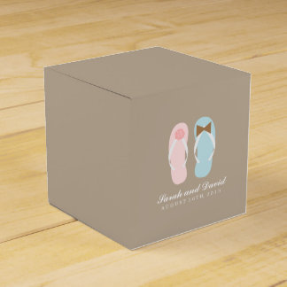 His and Hers Flip Flops Beach Wedding Wedding Favor Box