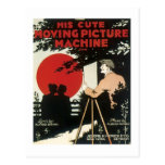 His Cute Moving Picture Machine Vintage Songbook Postcards