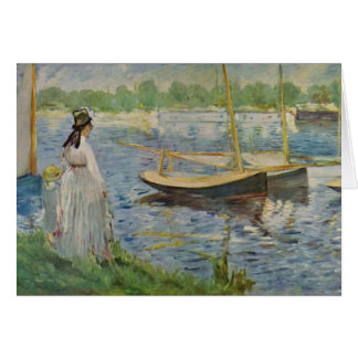 His embankment at Argenteuil by Edouard Manet Card