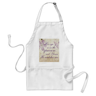 His Eye is on the Sparrow...Bible Verse Art Standard Apron