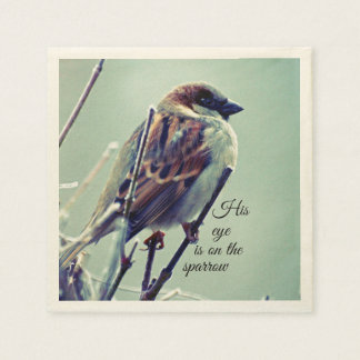 HIs eye is on the Sparrow Disposable Napkins